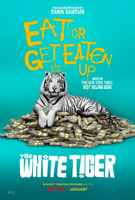 Белый тигр / The White Tiger (2021) WEB-DLRip